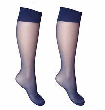 50650ca592c 2 pairs 15 Denier Ladies Soft Sheer Knee High Trouser Pop Socks Knee Highs-  sn