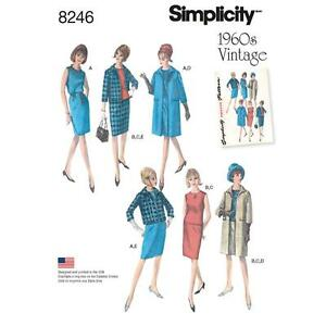 Simplicity-Gabarit-de-couture-pour-femmes-annees-1960-Robe-haut-jupe-veste