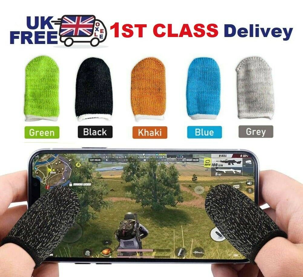 1 Pair Mobile Game Sleeve Smart Touch Screen Finger Gaming Gloves For PUBG UK