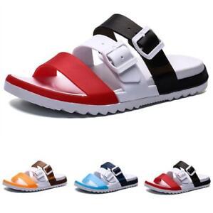 Mens Open Toe Walking Sports Slip on Flats Casual Summer Beach Slippers Shoes B