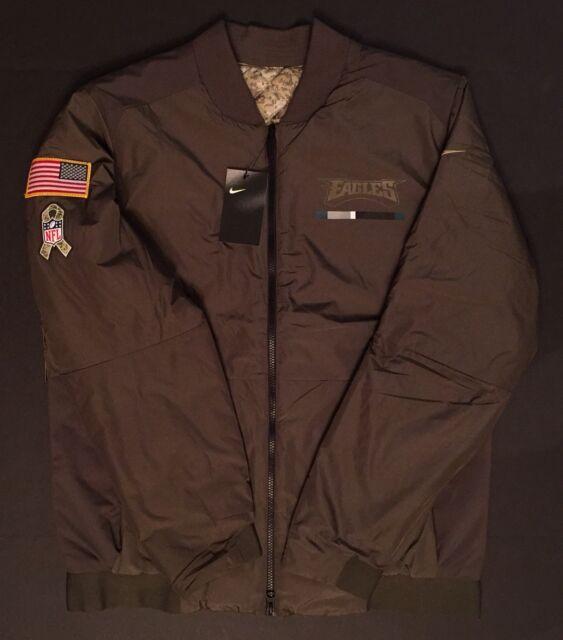 pretty nice d1b6b dc4f8 Nike Salute to Service Philadelphia Eagles Bomber 888701 325 Men's XLarge