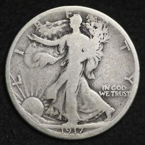 1917-S-REVERSE-Walking-Liberty-Silver-Half-Dollar-FREE-SHIPPING