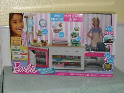 Barbie Ultimate Kitchen 20+ Pieces Dough Sounds New NIB ...