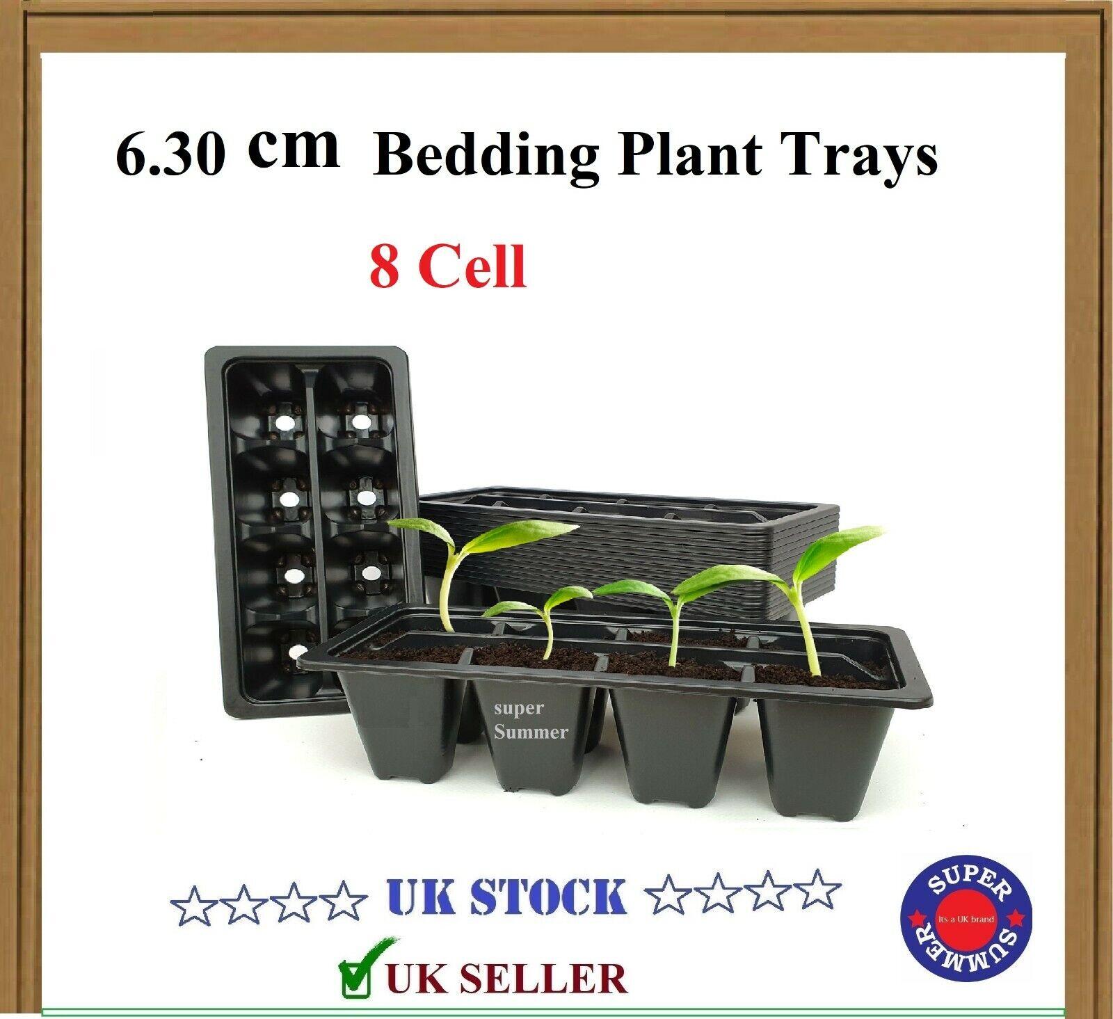 Bedding Plant Trays I Trolley Packs I 8 Cell I (Black) I Reusable