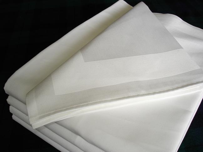 Stoffservietten Damast 50x50 weiß Zwirnqualität Gastro Hotel Bar Hochzeit Pflege    | Elegantes Aussehen