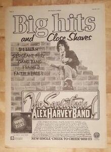 Sensational-Alex-Harvey-band-1977-press-advert-Full-page-28-x-38-cm-poster