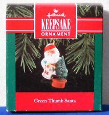 Hallmark Keepsake Christmas Ornament 1992 Green Thumb Santa water can tree