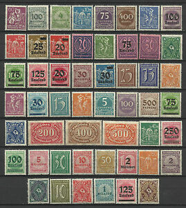 GERMANY-1919-23-INFLATION-ERA-STAMP-COLLECTION-PACKET-of-50-DIFFERENT-Stamps