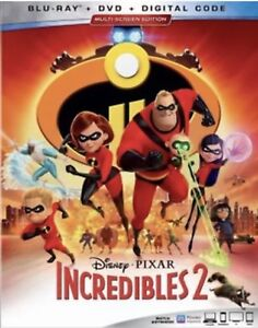 INCREDIBLES-2-BLU-RAY-DVD-DIGITAL-W-SLIPCOVER-NEW-UNOPENED