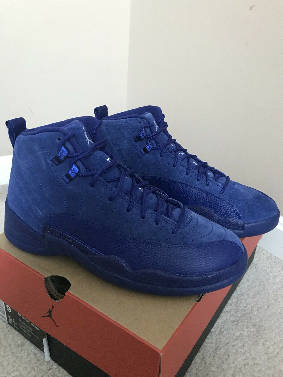 Jordan Retro 12 bluee suede 9 Taxi Playoffs Low Concord Red Got Game Navy Royal 5