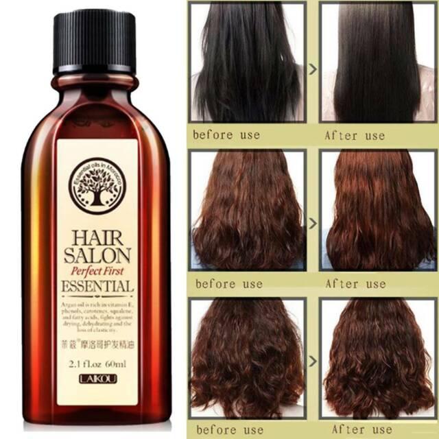 60ml Hair Care Oil Scalp Treatment Pure Moroccan Argan Oil for Dry Damaged Hair-