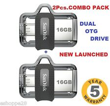 16GB SANDISK ULTRA DUAL DRIVE M3.0 OTG PEN DRIVE ~ COMBO PACK OF 2 PCS.