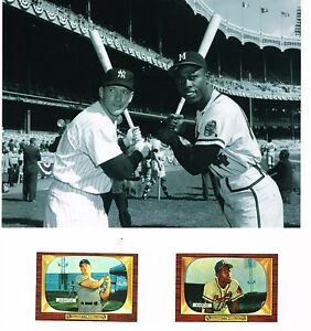 BEAUTIFUL CANVAS 8X10 MANTLE/AARON 55 BOWMAN REPRINTS AMZING DISPLAY PIECE LOOK