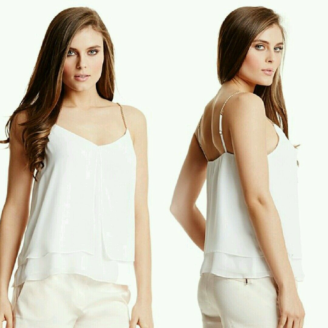 NWT GUESS BY MARCIANO Meet Me at Sunset SOLID Tank Top Größe S