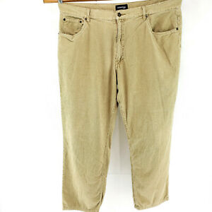 St-Johns-Bay-Mens-42x32-Corduroy-Jeans-5-Pocket-Work-Pants-Beige-Casual