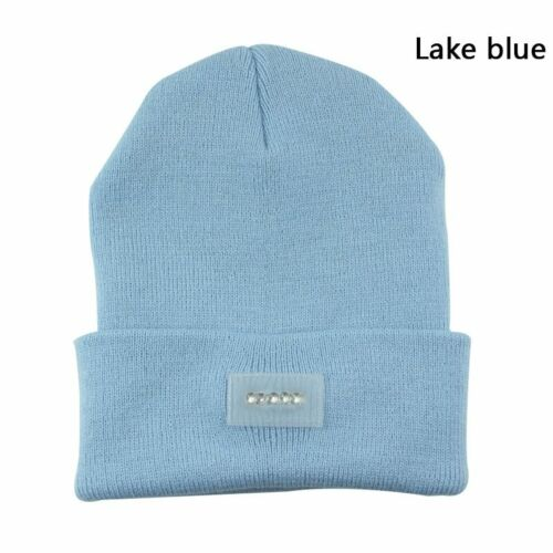 UK Men Women LED Beanie Hat With USB Rechargeable Battery 5H High Powered Light