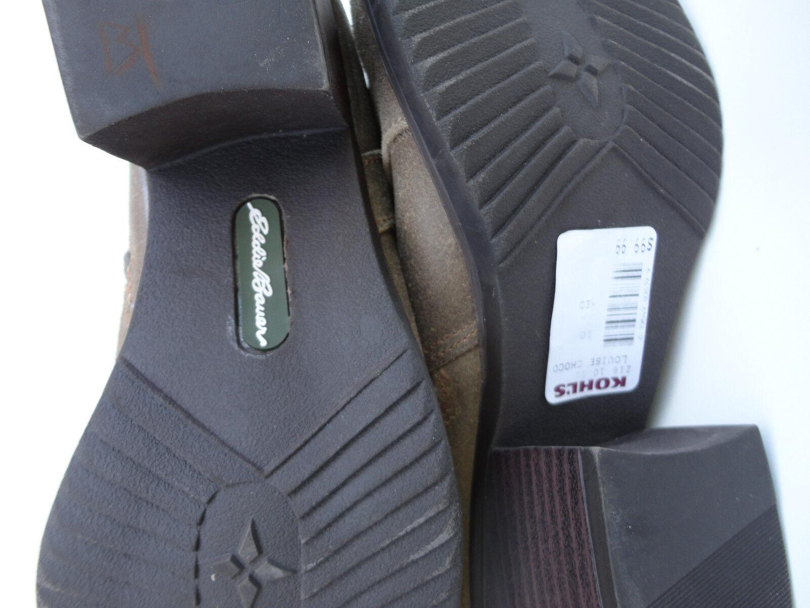 Eddie Bauer  Choco Leder Boot Louise Choco  With Tag 8de793