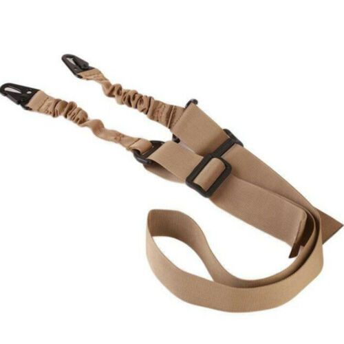 Tactical 2 Point Bungee Rifle Gun Sling Strap Military Airsoft Hunting