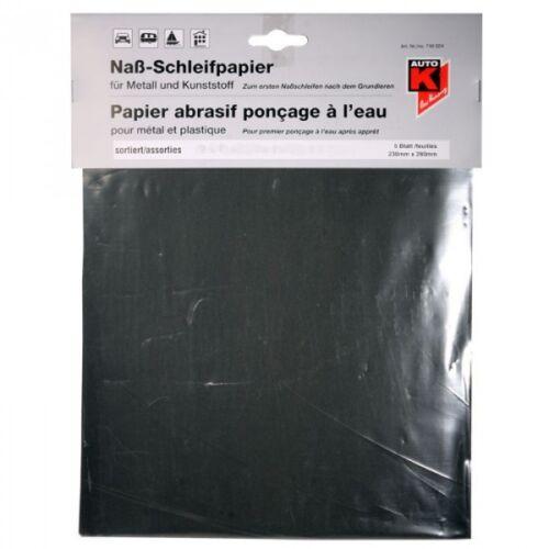 5x Nassschleifpapier P1000 Nasspapier Bogen Auto-K Schleifpapier f Autolack
