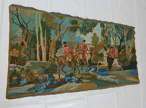 Vintage French Beautiful Scene Tapestry 145x75cm T382
