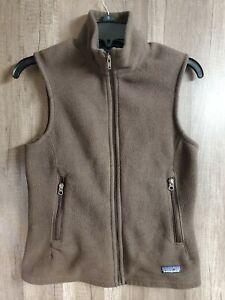 PATAGONIA-Synchilla-Fleece-Vest-Women-039-s-Size-SMALL-Brown
