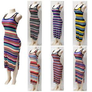 Womens Casual Midi Sleeveless Beach Summer//Fall Boho Maxi Style Below Knee Dress