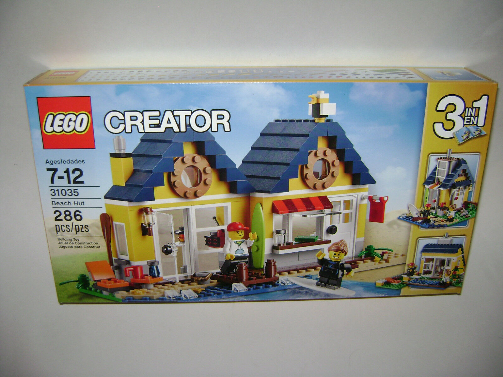 NEW 31035 Lego CREATOR 3 in 1 Beach Hut Building Toy SEALED BOX RETIrosso A