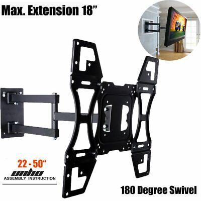 Full Motion TV Wall Mount Swivel Bracket 32 40 42 47 50 Inch LED LCD Flat Screen