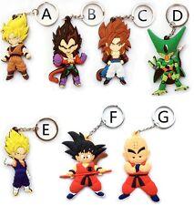 1Pcs Anime Dragon Ball Z Goku cosplay characters ring keychain DBZ Free Shipping