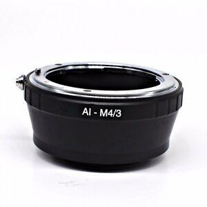 Nikon-AI-LENTI-PER-M4-3-ADATTATORE-MONTAGGIO-PER-TUTTI-Micro-Four-Thirds-sistema