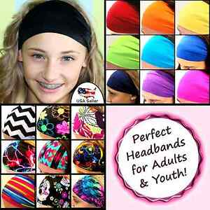 Details about Women Girls Sports Headbands Stretch Fit Soccer Lacrosse  Volleyball Yoga  Black  1944b51c5e3