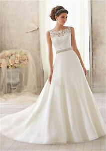 Image Is Loading New White Ivory Wedding Dress Bridal Gown Size