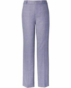 Banana Republic Ryan Herringbone Blue Wool Blend Trouser Pants Size 6L / 6 L