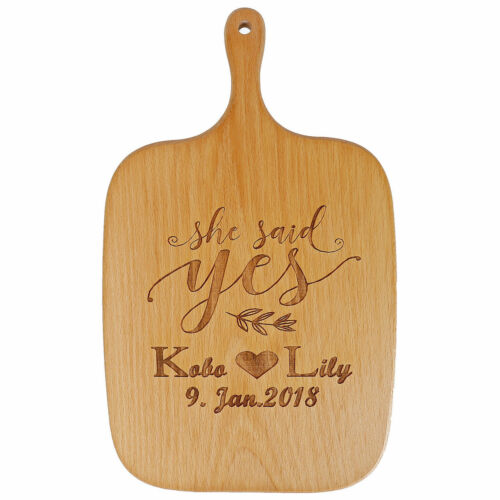 Personalised Wooden Chopping Board Laser Engraved With Any Message