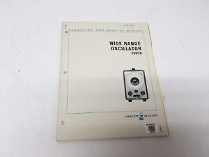 HP-200CD-Wide-Range-Oscillator-Operating-and-Service-Manual-W-Schematics