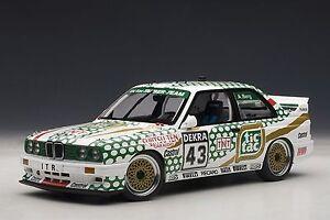 AUTOART-BMW-M3-DTM-1991-TIC-TAC-BERG-43-1-18-Back-in-Stock-Nice-Car