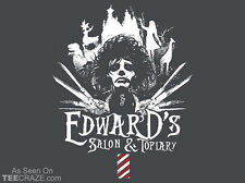 EDWARD SCISSORHANDS Salon +Topiary Burton Johnny Depp TeeVillain TEEFURY T-SHIRT