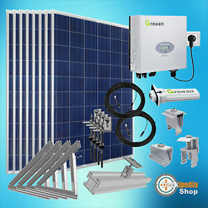 2000 watt plug play solaranlage pv komplett set f r. Black Bedroom Furniture Sets. Home Design Ideas