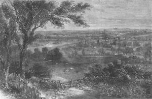London. Planned North London Park, Antique Print, 1862 AgréAble Au Palais
