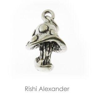 925 Sterling Silver Mushroom Charm American Made