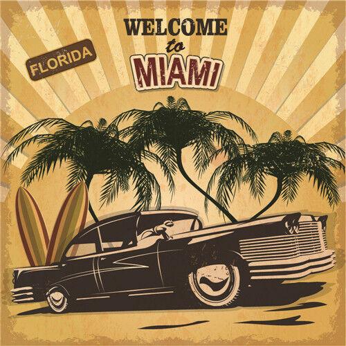 Metal Tin Sign welcome to miami  Bar Pub Vintage Retro Poster  30*30 cm