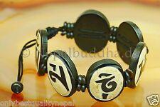 Top Armband Oval Buddha Mantra Scheiben Handarbeit Nepal s25