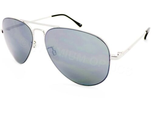 DARWIN pilot Sunglasses Shiny Silver with Grey Silver Mirror Lenses F922 BLOC
