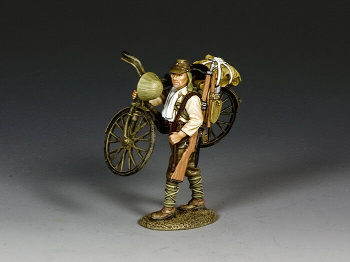 KING & COUNTRY JN043 WWII IMP. JAPANESE ARMY  SOLDIER CARRYING HIS BICYCLE  MIB
