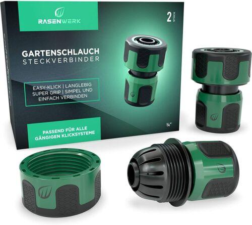 Gartenschlauch Wasser Anschluss Set Hahnanschluss Schlauchstück Stecksystem