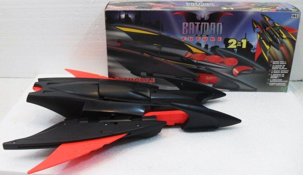 DC Comics BATSIDE-CAR, BATMOBILE e 2 Batman Hasbro 1998 9 00-nuovo e usato