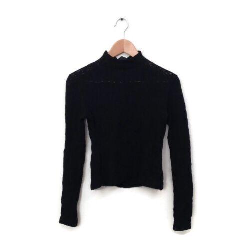 Chado Ralph Rucci Sweater S 6 Black Long Sleeve Op