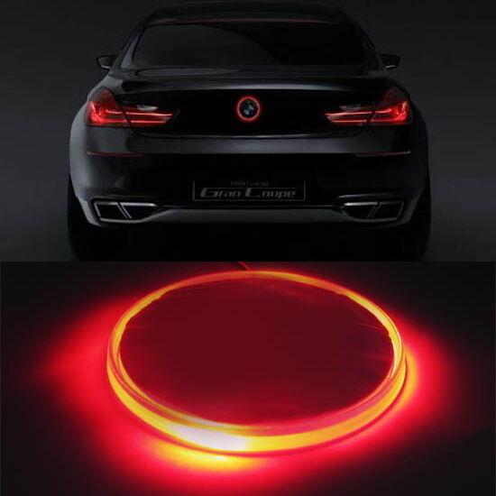(1) 82mm Brilliant Red Emblem LED Background Light For BMW 3 5 7 Series X3 X5 X6
