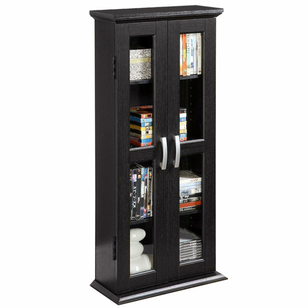 Bookcase With Doors Wood Bookshelf Furniture Living Room Sto