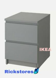 Ikea-Malm-Grey-Stained-Chest-of-2-Drawers-40-x-55-cm